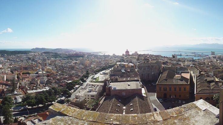 Cagliari in its full splendour from the Tower of Saint Pancrazio.