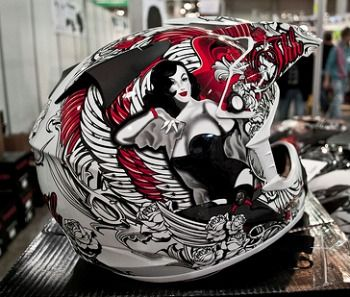 pinup offroad motorcycle helmet