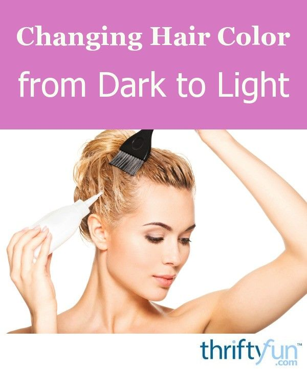Changing Hair Color from Dark to Light