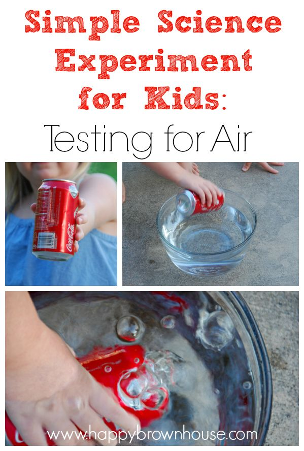 Simple Science Experiment for Kids: Testing for Air with only 3 household materials and less than five minutes