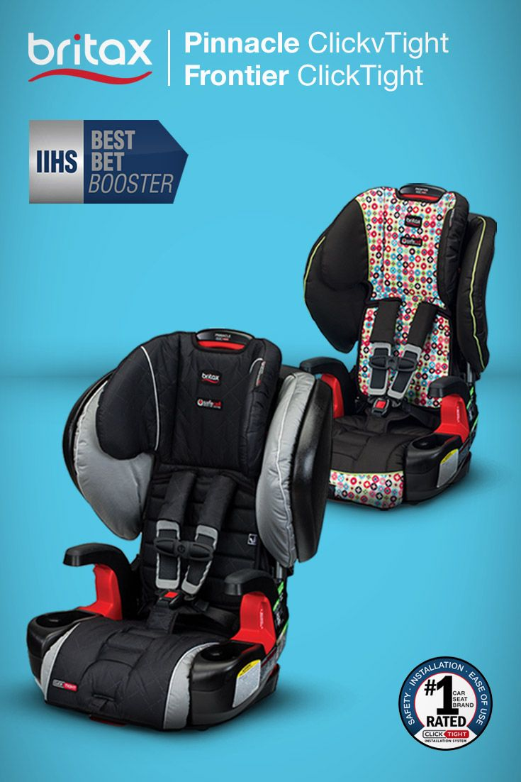 Britax boosters are iihs best bets the iihs tested our frontier clicktight pinnacle clicktight pioneer harness 2 booster seats and parkway sgl
