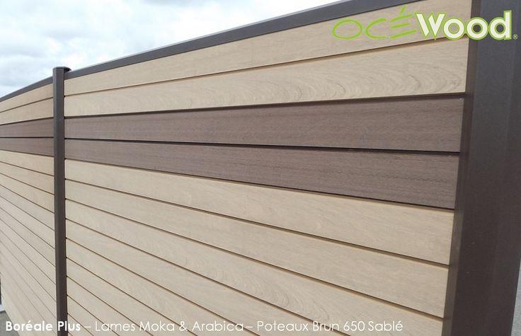 Lames cloture composites effet bois - Océwood®