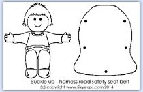 Car seat harness craft activity
