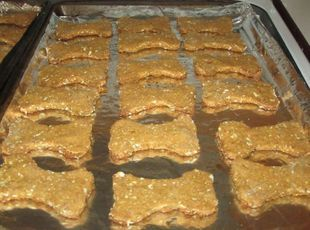 Sweet Potato and Oatmeal Dog Biscuits!!