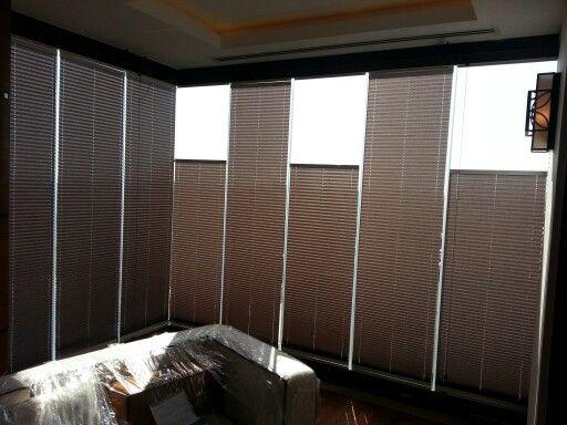 Plise cam balkon perdeleri