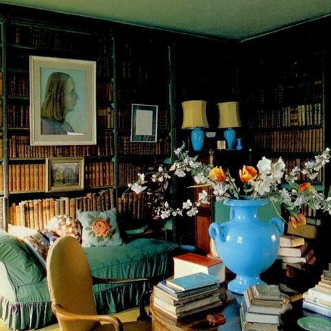 At Weston Hall. Sacherevell Sitwell's faded library, with sister Edith holding court in the center of the room. Much like she did in any room she entered, she dominates. Painted by her ideal male, Pavel Tchelitchew, in 1935, Edith at 48, more likely resembles a bedraggled war weary Knights Templar. At times I see this portrait as lackluster, years later I'll find it a compelling representation. Perhaps his work is worth reconsidering, I've never admired it. Edith intimidated Tchelitchew…
