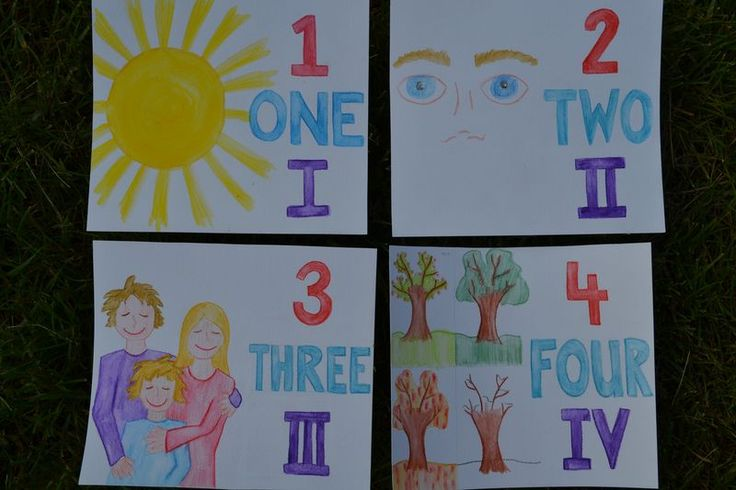 number cards- grade one