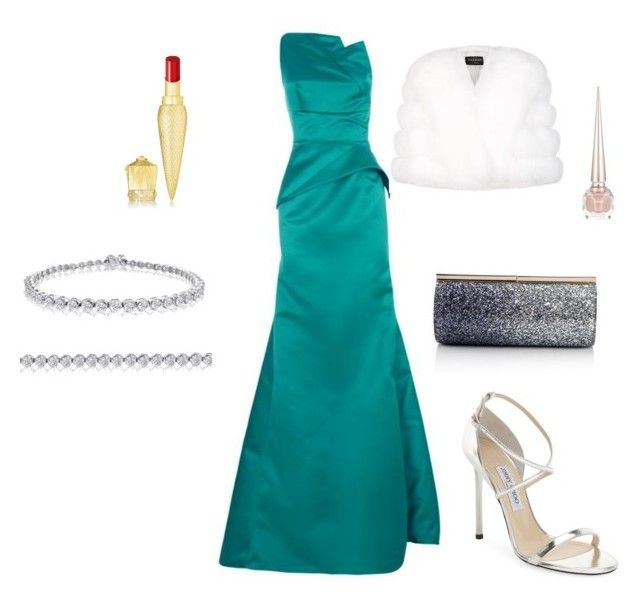 """Sarah's outfit for gala"" by maggiesitek on Polyvore featuring Roland Mouret, Amanda Rose Collection, Jimmy Choo, Harrods and Christian Louboutin"