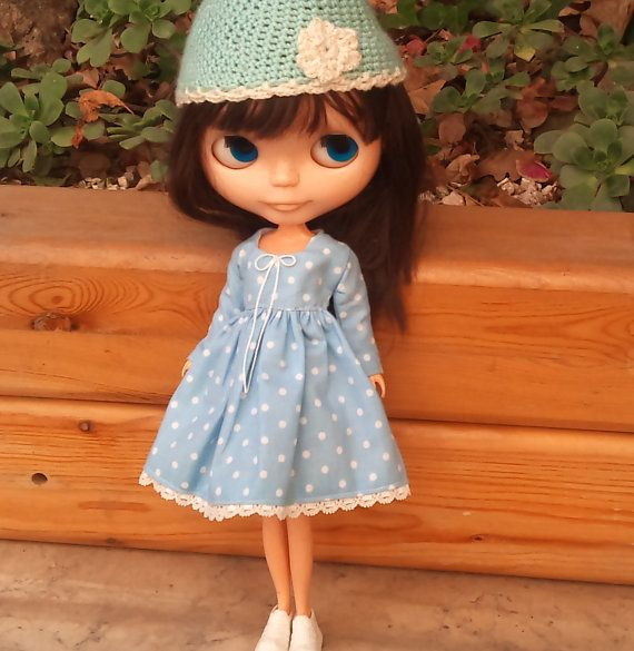 Special order for Chrishanthi Light blue polka by RainbowDaisies, $22.00