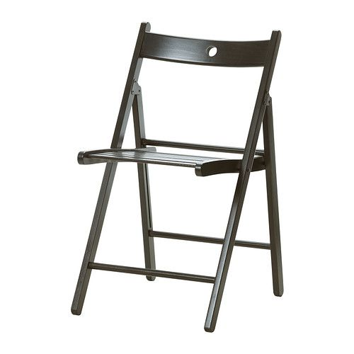 TERJE Folding chair IKEA Folds flat to save space when not in use. Hole in the backrest makes the chair easy to hang to save space.