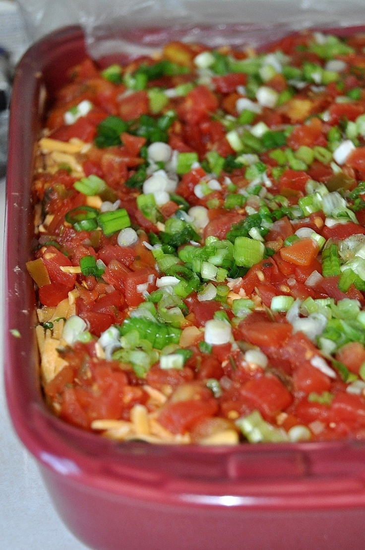 Layer Bean Dip | Appetizers, dressings, dips, sauces and spreads ...