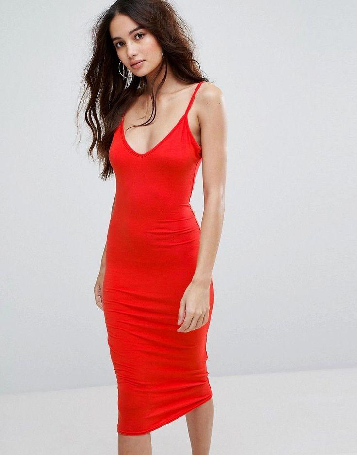 ¡Consigue este tipo de vestido informal de Boohoo ahora! Haz clic para ver los detalles. Envíos gratis a toda España. Vestido midi estilo camisola con cuello en V de Boohoo: Vestido a media pierna de boohoo, Tejido suave y ligero, Cuello en V, Tirantes finos, Corte entallado con diseño ajustado en el cuerpo, Lavar a máquina, 95% viscosa, 5% elastano, Modelo: Talla UK 8/EU 36/USA 4; Altura de 173 cm/5'8. Trasladando sus viajes internacionales a unos estilos frescos y nuevos con un toque d...