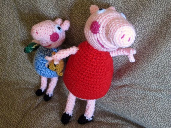 Peppa pig and George amigurumi by giovannacargnelli on Etsy