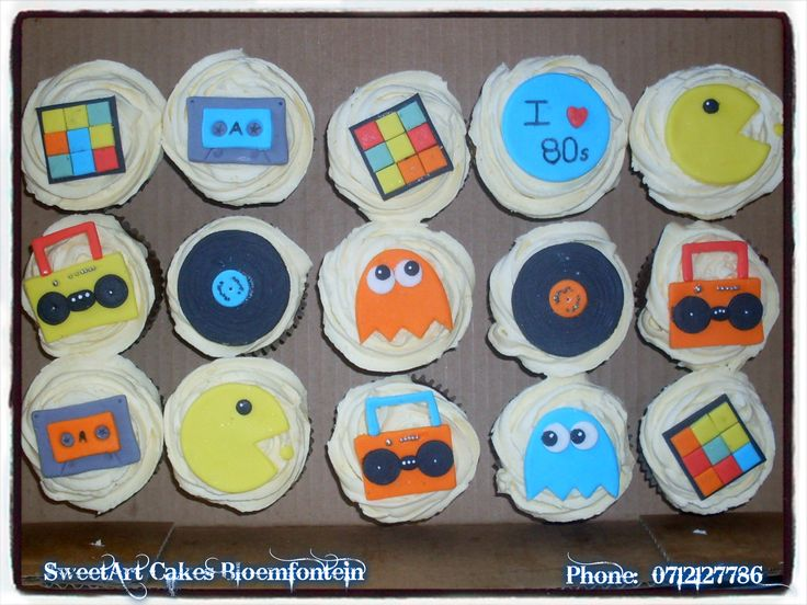 80s CUPCAKES For more info & orders, email Sweetartbfn@gmail.com or call 0712127786  Connect with us on Facebook: https://www.facebook.com/SweetArtCakesBfn