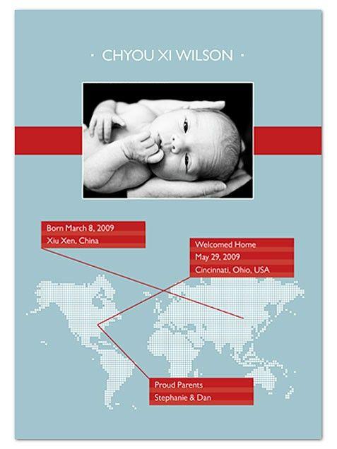 Best Birth Announcements -- Adoption Option