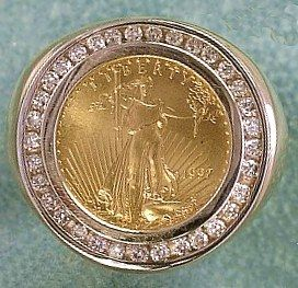 gold coin rings - Google Search