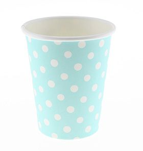 24 Sambellina Polkadot Blue Paper Cups - All the blues party packs $105 http://www.strawberry-fizz.com.au