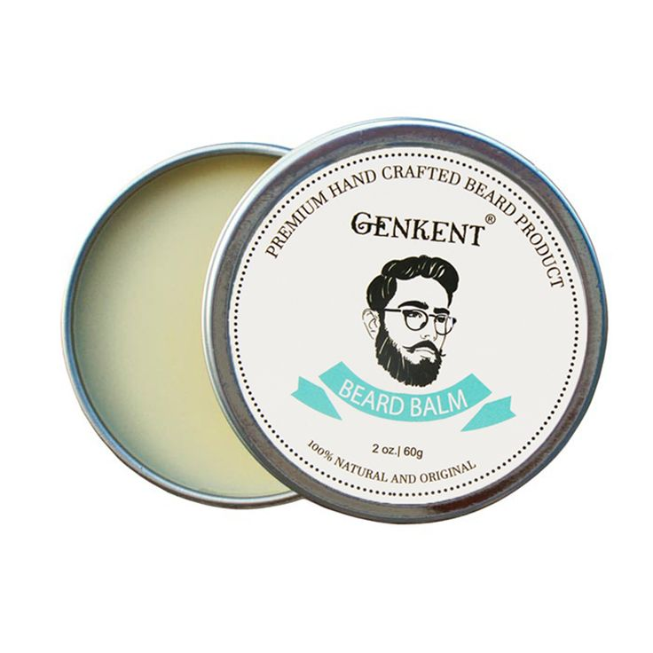 60g 100% Natural Beard Balm Moustache Moisturizing Cream for Beard Growth Well and Healthy Organic Natural Moustache Wax