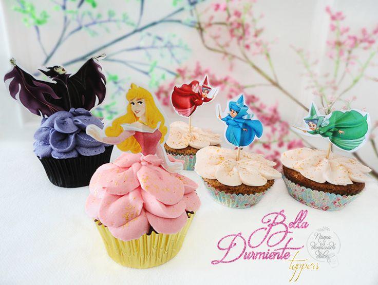 Sleeping Beauty Cupcake Toppers
