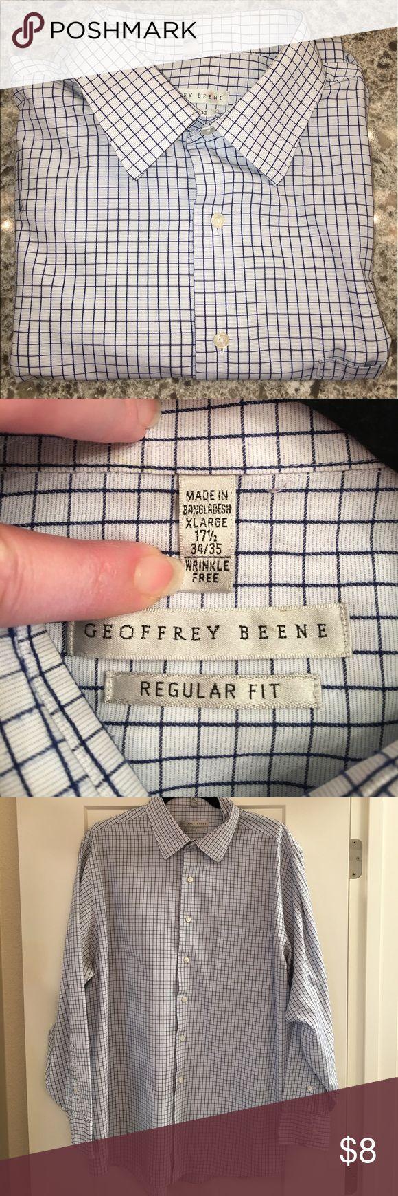 Men's dress shirt Geoffrey Beene men's dress shirt.  Light blue with navy stripe Geoffrey Beene Shirts Dress Shirts
