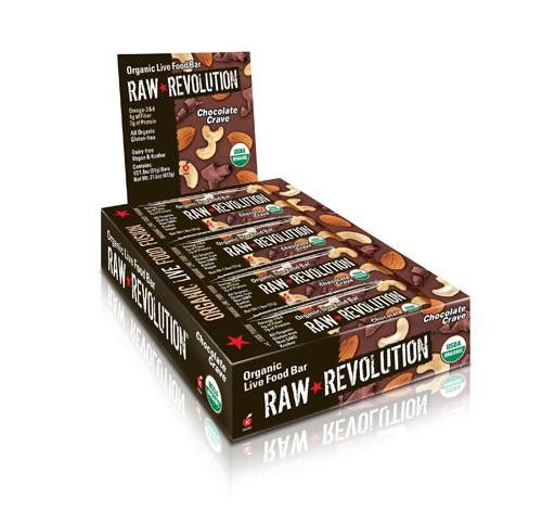 Raw Revolution Bar - Organic Chocolate Crave - Case Of 12 - 1.8 Oz
