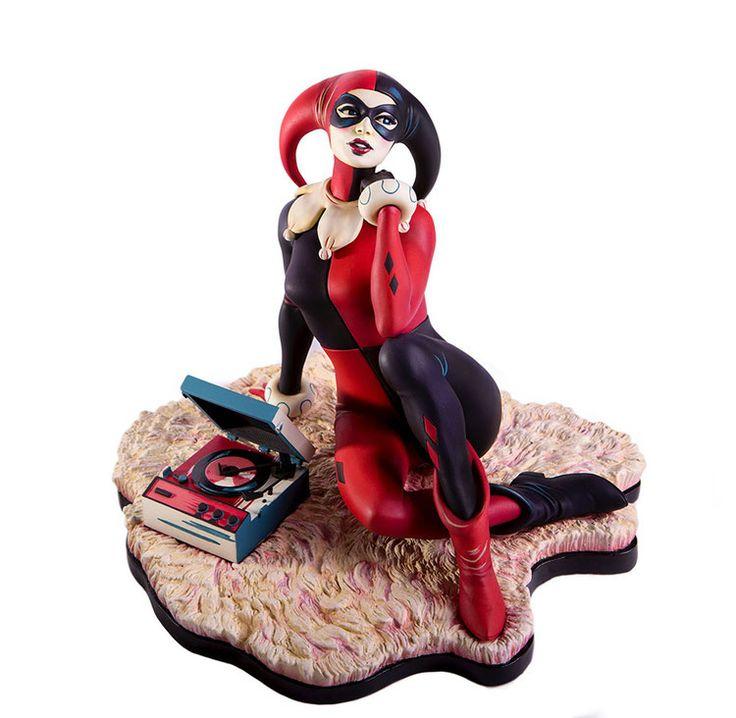 Batman The Animated Series Statue Harley Quinn Waiting For My J Man 23 cm