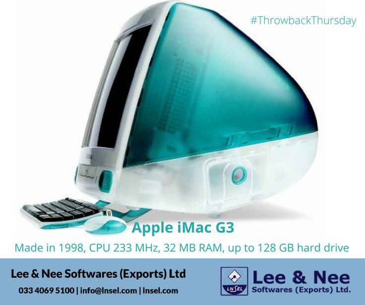 Taking a look on Throwback Thursday at the beautiful Apple iMac G3 that was launched in 1998. #ThrowbackThursday #iMacG3 #Apple #computers #iMac