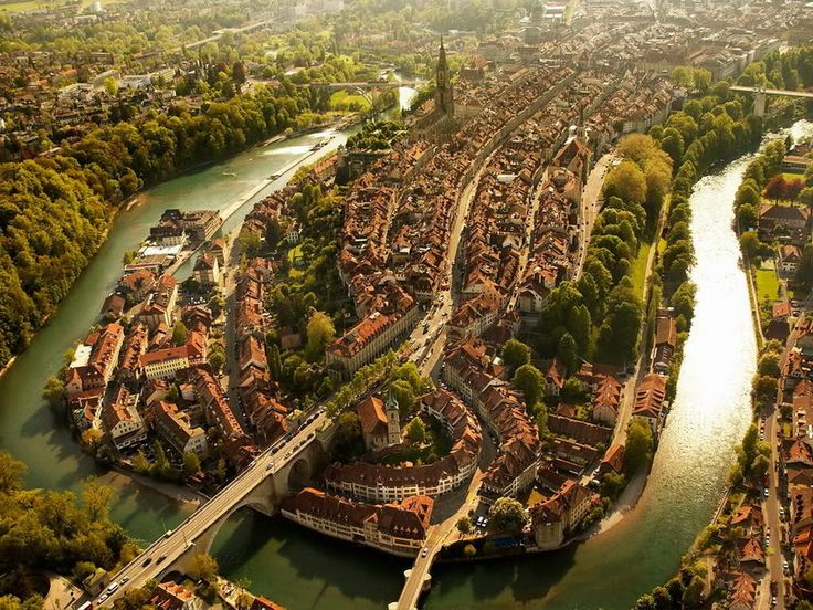 Bern, Switzerland | 27 Incredible Views You'd Only See If You Were A Bird