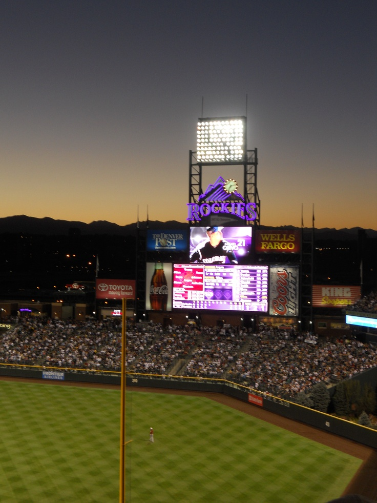 Few things rival an evening game with the Colorado Rockies. #colorado #denver #baseball #rockies