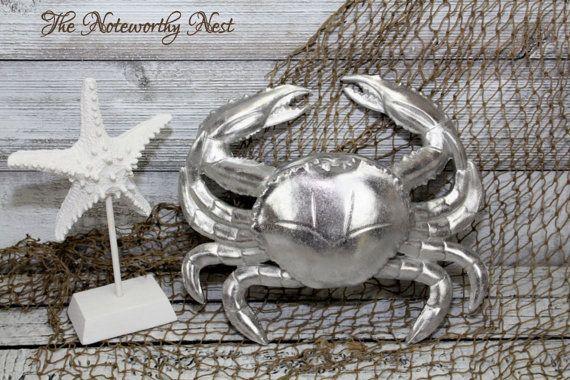 LARGE Crab Decor // Beach Decor // Nautical by TheNoteworthyNest