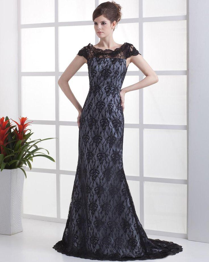 Elastic Satin Lace Jewel Printed Mermaid Celebrity Dress