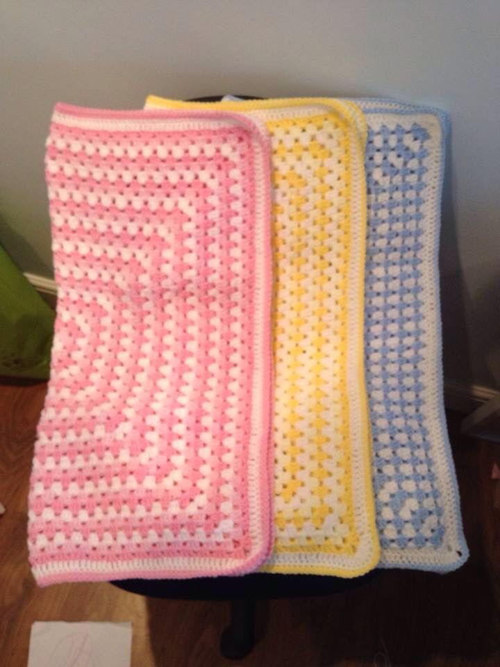 Beautiful Granny Square Baby Blankets