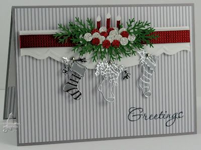 Always Playing with PaperChristmas Cards, Cards Christmas, Holiday Cards, Greeting Cards, Xmas Stockings, Christmas Stockings, Paper Crafts, Stockings Cards, Christmas Mantels