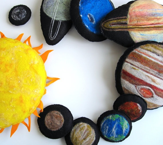 Montessori Toy Sun and Planets Combined by TheHandmadeClassroom, $95.00