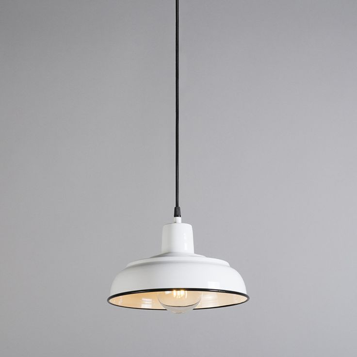 Pendant Lamp Logan White Porcelain