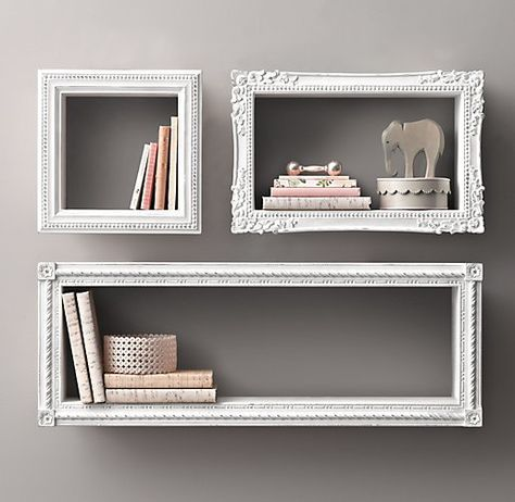 Love these! Simple, cheep, and looks fantastic. More ideas on what to do with old frames via the link.