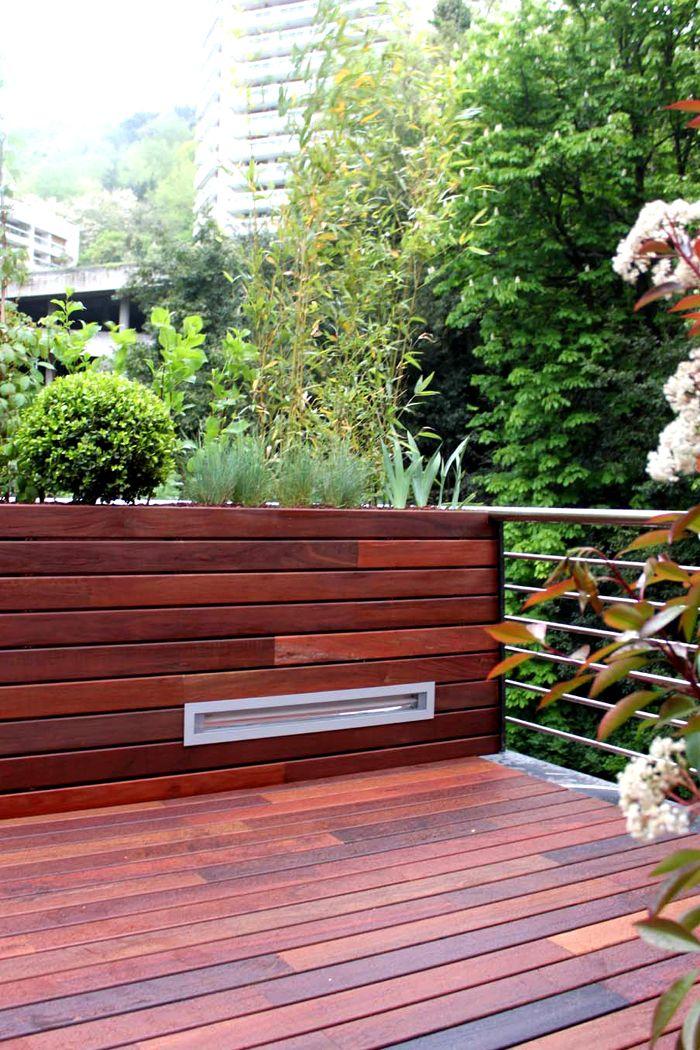 Iluminaci n de terraza con luminaria empotrada en frente - Iluminacion para jardines ...