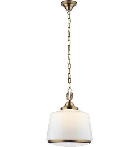 Rejuvenation Lighting | Hollywood Schoolhouse Pendant | Brass Pendant Light