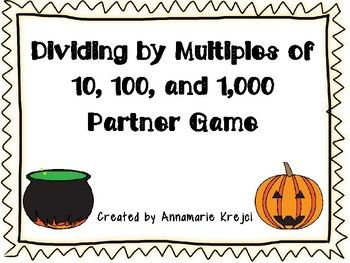 This print and play partner game will have your students practicing mental math division while having fun!  For best use, print in color and laminate.  Use as a small group center, for early finishers, or for a review center.Please check out the other games available in my store!Fraction, Decimal, Percent Spoons GameComparing Fractions GameFraction and Decimal Conversion GameThanksgiving-Themed Multi-Digit Multiplication GameComparing Fractions and Decimals GameEquivalent Fraction and…