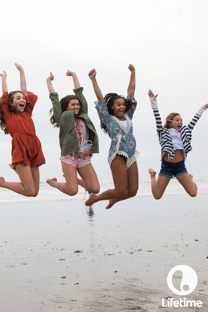 The girls of Dance Moms are jumping for joy!