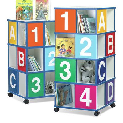 "Children's Furniture Co 3-Tier ABC/123 40"" Book Cart"