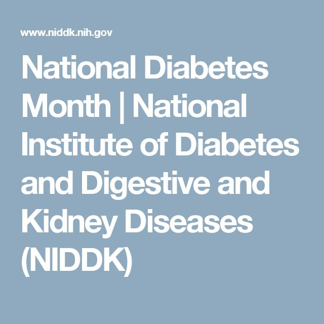 National Diabetes Month | National Institute of Diabetes and Digestive and Kidney Diseases (NIDDK)