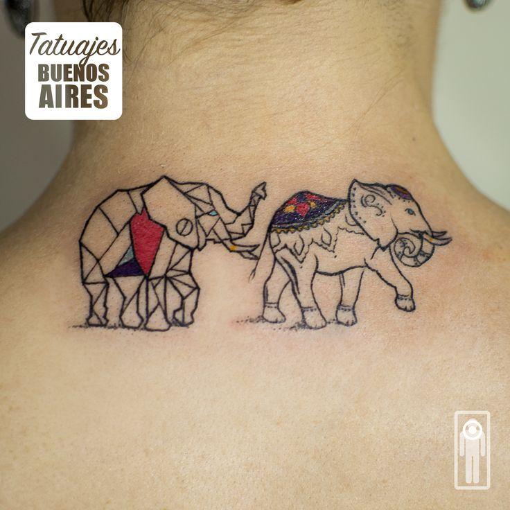 Tattoo elefante: #tattoo #tatuaje #elefante #mamaehija #madre #espalda #Caminando #Mujeres
