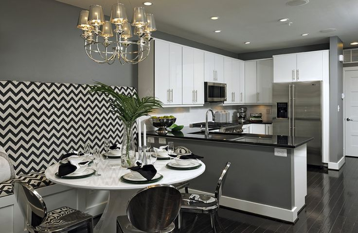 Great design for small kitchen dining space.