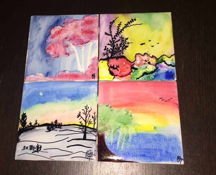 Playing with sharpies and alcohol on tile for the first time :)