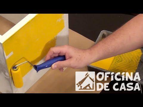 Como Pintar Sem Deixar Marcas de Pincéis na Madeira - Curso de Artesanato para Iniciantes - YouTube