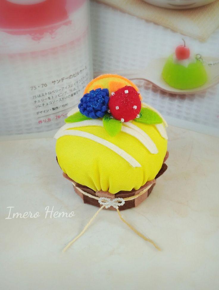 Banana cake pincushion