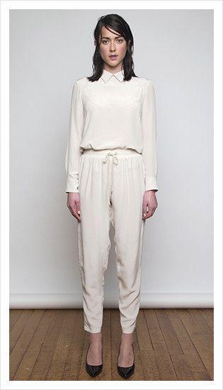 tabitha blouse & drawstring pant   winter 2014 collection   juliette hogan