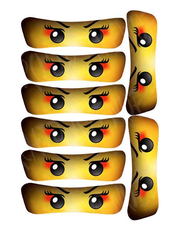 Muchacha ojos de Ninja/Samurai: 5 tamaños instantánea