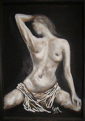 ΦΩΤΕΙΝΗ ΖΩΓΡΑΦΙΚΗ_ ΦΩΤΕΙΝΗ ΜΑΜΑΛΗ: Γυμνό - mixed media